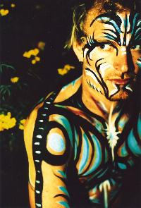 Body painted man