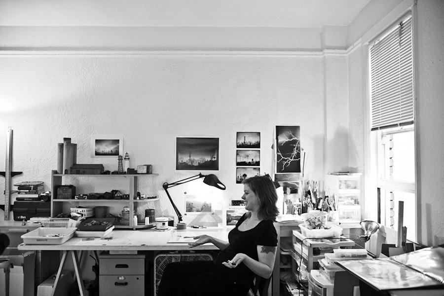 Vanessa Marsh in her studio